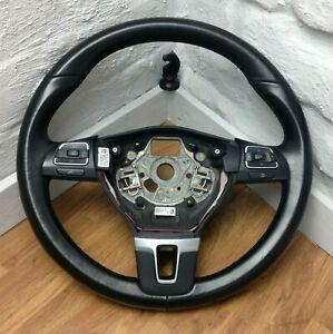 Genuine VW black leather steering wheel for T5.1 Transporter, with switches. B16