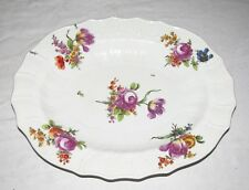 """Royal Vienna Beehive Mark Large 15.1/2"""" x 12"""" Oval Platter Scalloped & Embossed"""