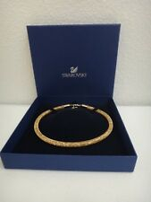SWAROVSKI Women's Gold Tone Stardust Deluxe Adjustable Necklace Crystals + BOX