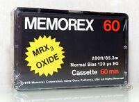 MEMOREX MRX³ Oxide 60  aus 1978 audio Kassette tape cassette MC MRX 3 NEW