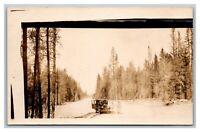 LaPine, Oregon OR  2 Women Model T Faint Snow? RPPC Postcard Unposted 1926-40