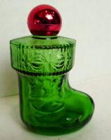 Avon Christmas Surprise Green Stocking Bottle  empty vintage