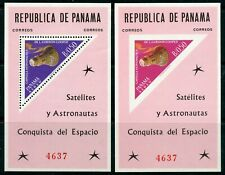 Weeda Panama #453f MNH 1964 issue Space Satellites Souvenir Sheets CV $45