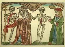 LA DANSE MACABRE squelette LA MORT DES NOBLES, Gravure originale sur bois