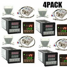 4pack Digital 110v Pid Rex C100 Temperature Controller Max40a Ssr W1l3 New