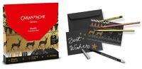 Caran Dache Christmas Cards Metallic Creative Box (12 Cards & Metallic Art Set)