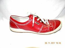 LADY'S JOSEF SEIBEL RED PATTENT COMFORT SHOES OXFORDS SIZE 39 EU 8.5 US