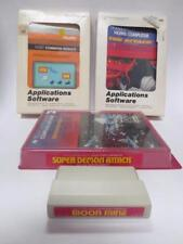 lot of (4) Texas Instruments home computer games command cartridge modules