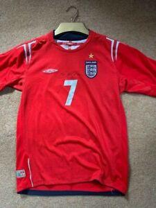 David Beckham signed England shirt with COA