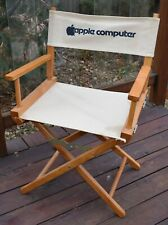 vtg APPLE COMPUTER MACINTOSH folding director's CHAIR MAC advertising rare 80's
