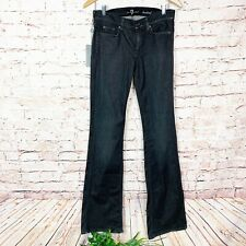 7 For All Mankind Black Bootcut Jeans Womens Size 27