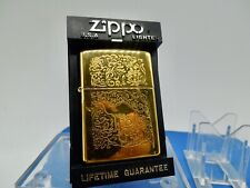 VINTAGE RARE 1996 22K GOLD PLATED JOE CAMEL ZIPPO LIGHTER NEW UNUSED INFIRED CON