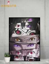 Naruto Eyes Poster Anime NEW Manga print design Size - A4 A3 A2 - gift idea