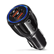 CHARGEUR VOITURE ALLUME CIGARE USB DOUBLE PORT TELEPHONE IPHONE SAMSUNG iPAD