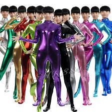 Women Kids Metallic Lycra Spandex Bodysuit Unitard Costume Zentai Catsuit Zentai