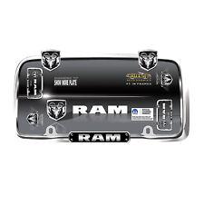 Dodge 'RAM' Chrome/Black License Plate Frame Cruiser Accessories