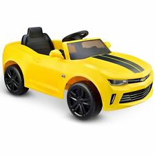 Kids Ride On Toy Electric Car Camaro RS Bumblebee Play Yellow 6V Battery Power