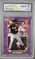 Jeff Bagwell Houston Astros 1991 Classic Purple Rookie Card #90 WCG 10 Gem Mint