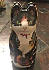 Vtg Dana Kubick Hunkydory Design Cat Tin Made in England 1986