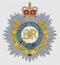 "Royal Corps of Transport Cross Stitch Design (8x8"", 20x20cm, kit or chart)"
