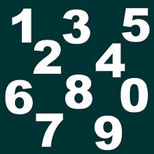 """10 cm """" Set 0 bis 9 """" Weiß glanz SA-12 Zahlen Aufkleber Klebezahlen Ziffern"""