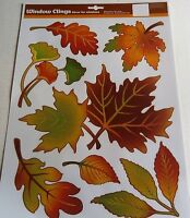 FALL Window Cling COLORFUL ASSORTMENT OF FALL LEAVES