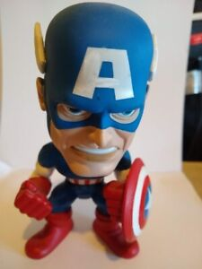 "Funko Marvel Comics CAPTAIN AMERICA 7"" Wacky Wobbler Bobble Head 2008 Figure"