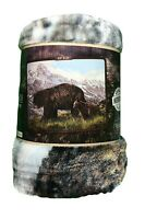 "American Heritage Collection Royal Plush Raschel Throw 50"" x 60"" Bear"