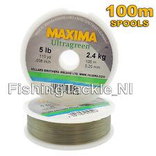 Maxima Ultragreen Fishing Line 100M Spools - Hi-Tensile Monofilament  2lb - 30lb