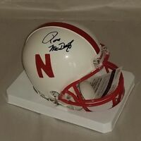 Ron McDole Signed Nebraska Cornhuskers Mini Helmet JSA