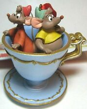 *SUPER RARE* NWT 2009 DISNEY STORE GUS & JAQ IN TEACUP CINDERELLA ORNAMENT