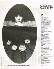 Publicité Advertising 1978 Les Montres Ultra Plates Alexis Barthelay