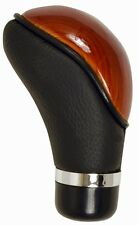 Universal Wood Grain Leather Shift Knob for Car-Truck-Hotrod Gear Manual Trans.