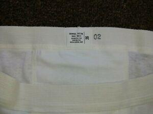 1 Vintage DOUBLE SEAT Brief Underwear Military Issue White Cotton Size 36 New