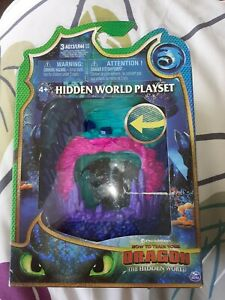 How To Train Your Dragon - Hidden World Playset with Toothless Figure NEW