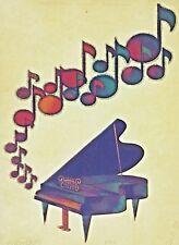 Original Vintage Rainbow Piano Fantasy Iron On Transfer