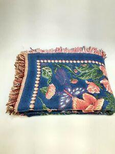 Goodwin Weavers 100% cotton Throw reversible floral EUC