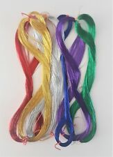 6 x 75 metre skeins of Fine Metallic Thread Hand Embroidery Sewing Quilting
