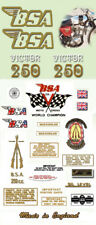 1971  B25T  - FULL DECAL SET- BSA Victor Trail Decals