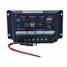 Sun YOBA Solar Charge Controller 10A 12V & DC 12V USB 5V Power Solar Panel, New