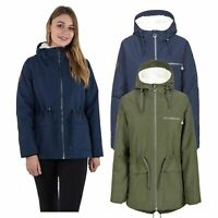 Trespass Womens Parka Jacket Waterproof Winter Coat Sherpa Fleece Hood