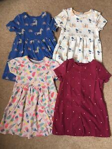 Girls Bundle Of Short Sleeved Summer Dresses, Age 3-4, John Lewis, M&S, Tu