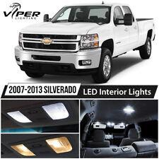 2007-2013 Chevy Silverado White LED Interior Lights Package Kit