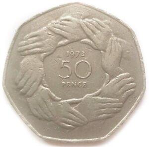 BREXIT 50P 1973 HAND OF RINGS EEC EU EUROPEAN UNION 50P CIRCULATED