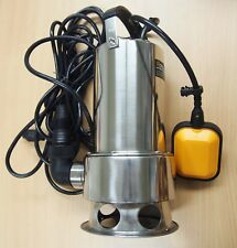 Submersible Water Pump Stainless Steel 1HP 13000 L/H Trash Clean Water Flooding