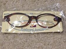 Brand New BOULEVARD BOUTIQUE WOMENS EYEGLASS FRAMES plastic BROWN TORTOISE nice