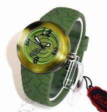 VON DUTCH $275 WOMENS ARMY KHAKI GREEN CAMO RUGGED SWISS WATCH -SAPPHIRE CRYSTAL