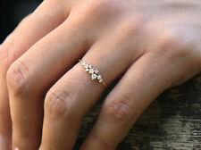 Brillanten Ring 9 Diamanten 0,24 Carat in 585er 14 K Gold Zertifikat Wert 1500 €
