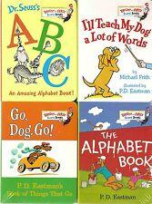 Dr. Seuss:  Lot D - 4 Bright & Early Brd Bks - ABC, Go Dog Go, Teach My Dog  etc