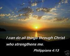 Strengthens Me Bible Verse Philippians 4:13 Inspirational Quote 8x10 Photo #tc2